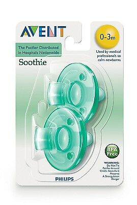 Philips Avent Soothie Scf190/ 01 Pacifier0-3 Months 2 Piece Bpa Free Baby