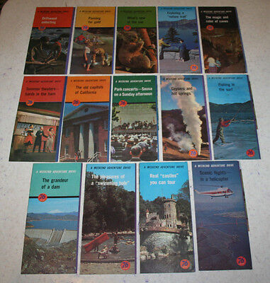 """Lot of 14 Union 76 Oil Company """"A Weekend Adventure Drive"""" Pamphlets 1961-63"""