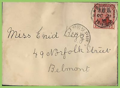 Trinidad & Tobago 1916 Red Cross surcharge stamp on cover