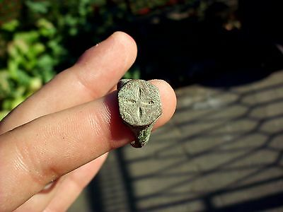 Superb Decorated Ancient Roman Bronze Ring  #5