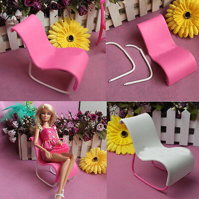 2X Plastic Rocking Beach Lounge Chair Sofa Furniture Garden For Barbie Doll Top