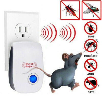 Ultrasonic Pest Reject Electronic Bug Mosquito Cockroach Mouse Killer Repeller