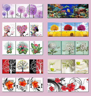 Underwater Flower Scenery Photo Print Wall Art Abstract Painting Canvas Frame