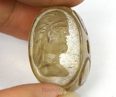 Beautiful Stone Crystal Rock Intaglio King Warrior Stamp Collection Bead Bc635