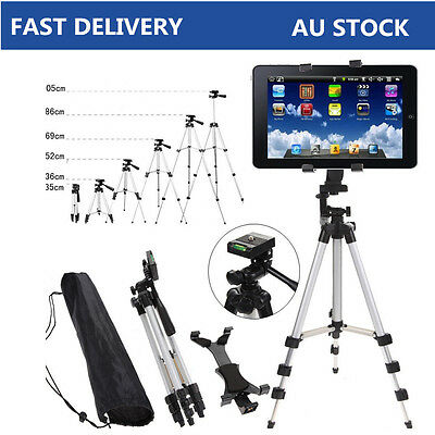 Adjustable Foldable Tripod Stand Mount Holder for iPad 2 3 4 Air Tablet PC + Bag
