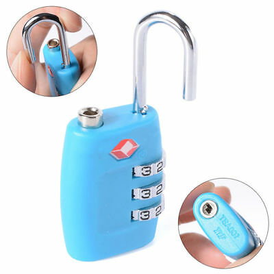 TSA Approved Lock Travel Suitcase Luggage 3 Combination Resettable Padlock