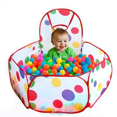 Portable Children Kid Ocean Ball Pit Pool Game Play Tent W/ Ball Indoor/Outdoor