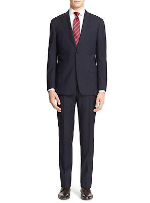 Luciano Natazzi Mens 2 Button Modern Fit Two Piece Suit Pin Jacket Pant