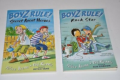 BOYZ RULE! By Felice Arena & Phil Kettle - 2 x Books - EUC