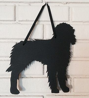Goldendoodle Handmade Chalkboard Golden Doodle Dog Shadow w/chalk & Eraser