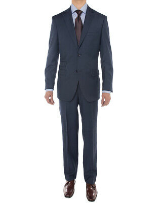 Luciano Natazzi Mens Two Button Super 160S Wool Suit 2 Piece Jacket With Pant