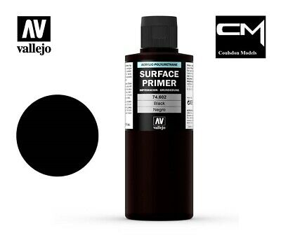 Vallejo Model Air 74.602 Black Surface Primer 200ml Airbrush Paint
