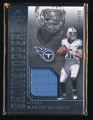 Marcus Mariota 2017 Panini Majestic Showstoppers Jersey 65 75  tennessee  Titans  b0a18ce39