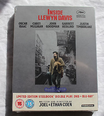 NEW Sealed Inside Llewyn Davis Blu-Ray DVD Steelbook Zavvi Exclusive Region B