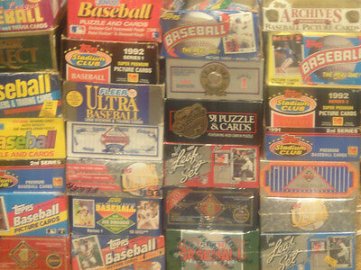 Lot Of 2 Packs 1000's Of Vintage Unopened Baseball Football Wax Packs