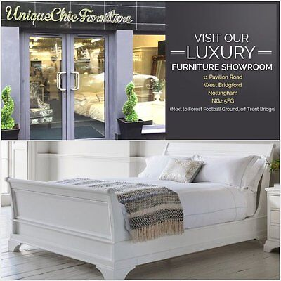 Aurelia Frank Hudson Quality French Style White 5ft King Size Sleigh Bed