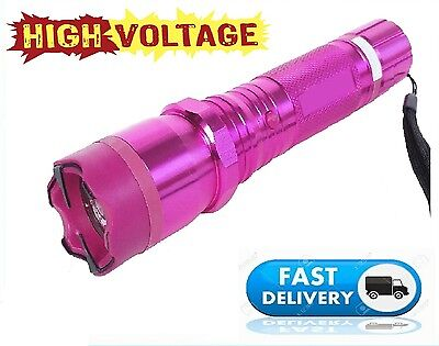 Stun Gun Self Defense Pink Rechargeable 175 Billion Volt Super Bright LED light