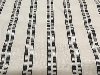Balboa Groundworks OUTDOOR Stripe Upholstery Fabric Smoke 1.15 yd GWF-3424-18