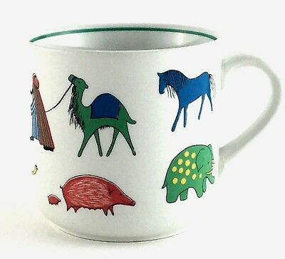 Child's Mug In Parade By Arabia Made In Finland Animal Kingdom