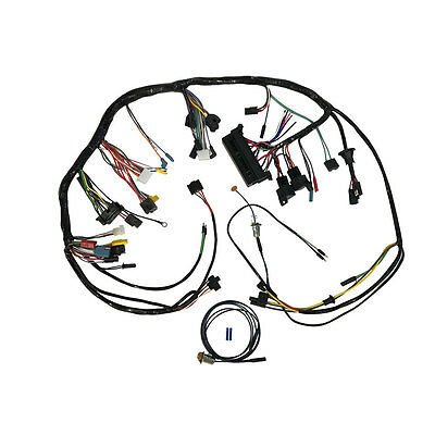 Mustang Under Dash Wiring Harness With Premium Fuse Box And Relays Without Tacho
