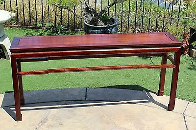 Solid Asian Rosewood Sofa Table or Console Table Ming Design
