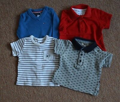 Armani, Hugo Boss, Tommy Hilfiger T shirts and jumper aged 3-6 months