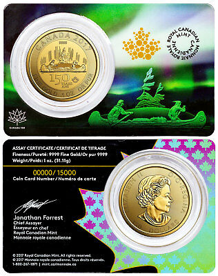 2017 Canada Celebrating 150th Voyageur Special Edition 1 oz Gold $150 SKU49097