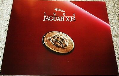 1994 Jaguar XJS 4.0 & 6.0 Coupe and Convertible Large Deluxe Sales Brochure