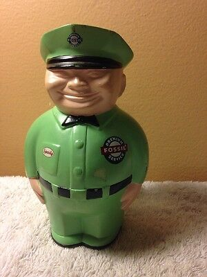 SPEEDY FOSSIL MINT GREEN FAT MAN Bank No Box