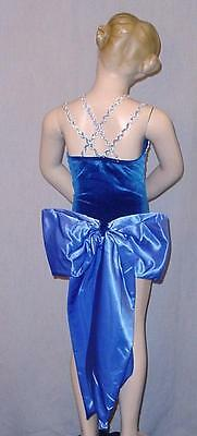 Bow Only Dance Costume Matches Blue Skies Costume Blue Satine Back Bow Child Sz