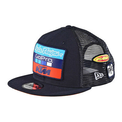 Troy Lee Designs TLD Team KTM Mens Snapback Hat Navy Blue