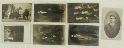 Vintage Paper Postcard RPPC Young Men Period Costume Masonic Edwards OH WI 7PCS