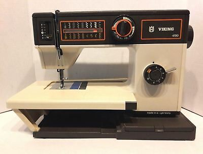 Viking Husqvarna 4700 Sewing Machine 4000 Series with Cover Manual & Foot Pedal