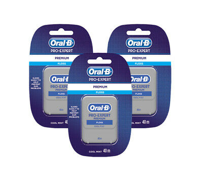 ORAL B Premium Pro Expert Cool Mint Dental Floss 40m, 1-2-3-6-12 Pro-Expert Pack