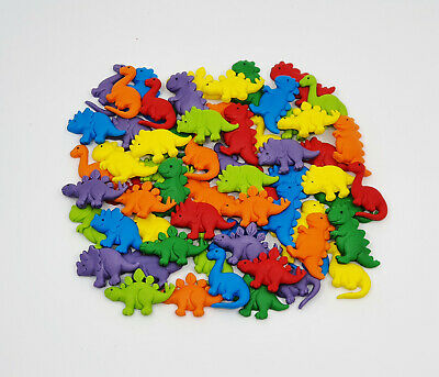 Dinosaurs Mini Cake Decorations Edible X 12 (Mixed Colours) - Wow!!!!