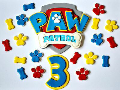 Paw Patrol Cake Toppers Set With A Number - Choose Your Size...  Awesome!!