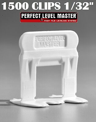 """1/32"""" T-Lock 1500 Clips - Perfect Level Master  - Tile Leveling System spacers"""