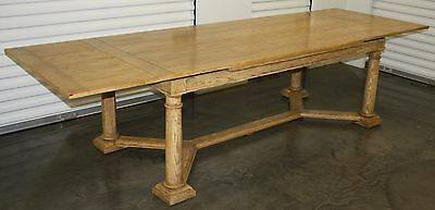 Baker Dining Room Furniture, Farmhouse style Plank Top Table with pull out leafs