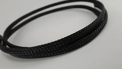 Black 1/4 3Ft Braided Expandable Flex Sleeve Wiring Loom Wire Cover, Pet