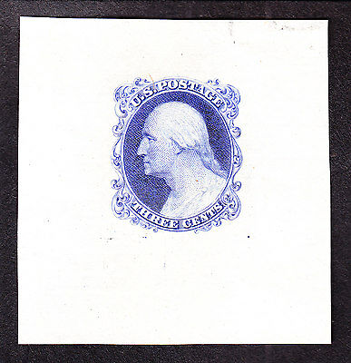 US 11E17c 3c Washington Ultra Marine Essay SCV $175