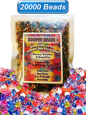 20000 Water Beads Crystal Gel Balls Pearls Jelly Gel Beads Lot Orbeez Toy Refill
