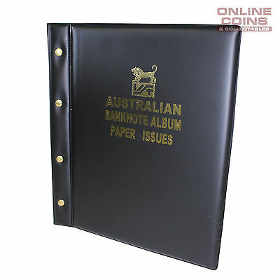 VST Banknote Album Padded Cover Decimal Paper Notes with Pictures - BLACK