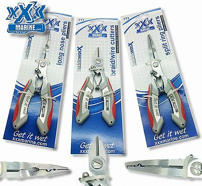 Stainless Steel Pliers XXX Marine Split Ring, Long Nose or Line Cutter Pliers