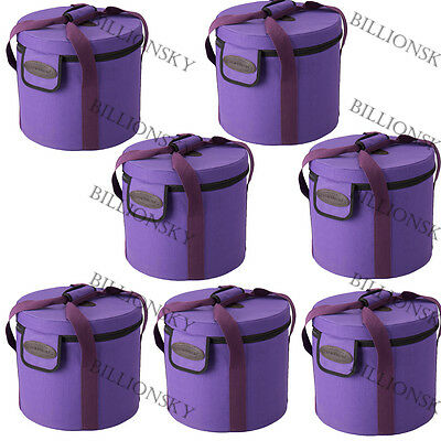 7 Pieces of Heavy Duty Purple Canvas for Chakra Crystal singing bowls All 8 inch