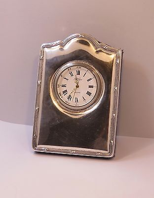 Vintage 1995  Carrs Sheffield Sterling Silver Mini Table Clock