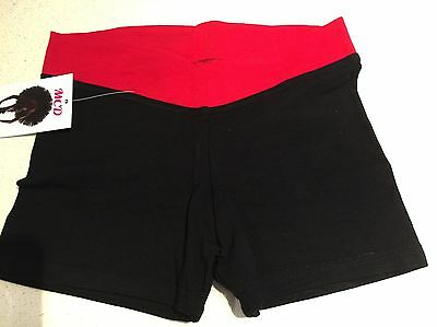 V-band Dance Shorts Childs 12 - Red And Black Same Day Post