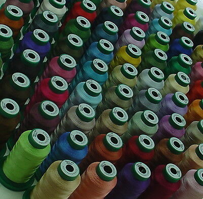 5 x 1,000 MTR JANOME COLOUR MACHINE EMBROIDERY THREADS YOU CHOOSE COLORS