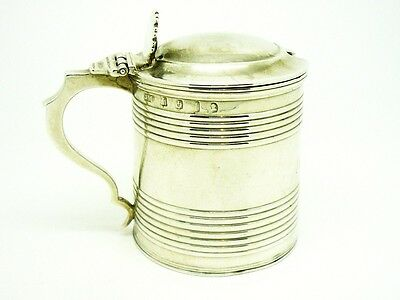 Solid Silver Mustard Pot, Sterling, SCOTTISH, Antique, Hallmarked Edinburgh 1817