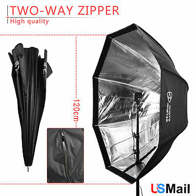 PRO 120cm 47'' Octagon Umbrella Softbox Brolly Reflector for Flash Speedlight