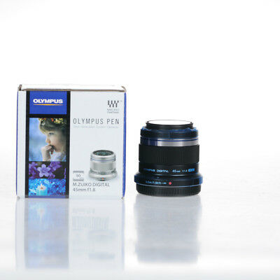 Brand New Olympus M.ZUIKO DIGITAL 45mm f1.8 Lenses - Black